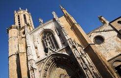 Aix-en-provence#4. The Cathedrale Sainte Sauveur in Aix-en-Provence, France Royalty Free Stock Photography