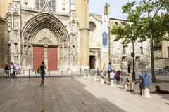 Aix-en-provence för domkyrkaSaint Sauveur D ` Fotografering för Bildbyråer