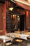 Aix en Provence, França - 21 de abril de 2016: restaurante no ce da cidade Imagens de Stock Royalty Free