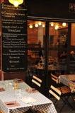 Aix en Provence, França - 21 de abril de 2016: restaurante no ce da cidade Imagem de Stock