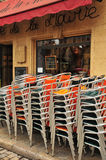 Aix en Provence, France - april 21 2016 : chairs Stock Photography