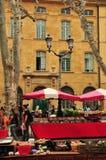 Aix en Provence Francja, Kwiecień, - 21 2016: rynek Obraz Stock