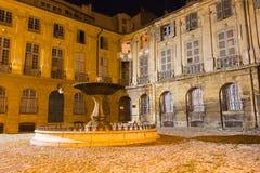 Aix-en-Provence - Place d'Albertas. A night view of a place in Aix-en-Provence (France Stock Photo