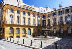 Aix en Provence Place d'Albertas Stock Afbeelding
