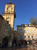 Aix en Provence ställe l ` Hotell de Ville Arkivbilder