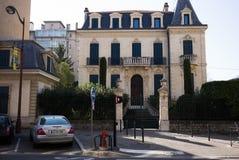 Aix-en-Provence Street Scene. Aix-en-Provence Statue street scene apartments Royalty Free Stock Photography