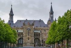 Aix-la-Chapelle Rathaus (câmara municipal), Alemanha Imagens de Stock