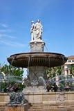 Aix's Fontaine de la Rotonde Royalty Free Stock Photos