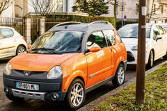 Aixam micro car on streets of France Royalty Free Stock Photos