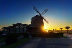 Aixerrota mill in Getxo at sunrise Stock Image