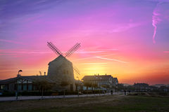 Aixerrota mill in Getxo at sunrise Royalty Free Stock Photography
