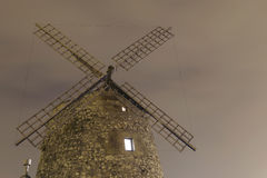 Aixerrota windmill in Getxo, Basque Country, Spain. Royalty Free Stock Images