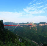 Aizhai桥梁 库存照片