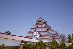 Aizu Wakamatsu Castle, Fukushima, Japan Stock Photos