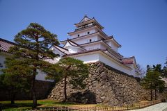 Aizu Wakamatsu Castle, Fukushima, Japan Royalty Free Stock Photo
