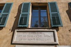 Ajácio, citadela, Maison Bonaparte, Córsega, Corse du Sul, Córsega do sul, França, Europa imagem de stock