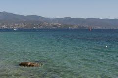 Ajácio, praia, Córsega, Corse du Sul, Córsega do sul, França, Europa Imagem de Stock Royalty Free