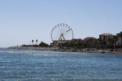 Ajácio, praia, roda de ferris, Córsega, Corse du Sul, Córsega do sul, França, Europa Foto de Stock Royalty Free