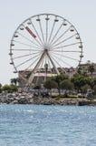 Ajácio, praia, roda de ferris, Córsega, Corse du Sul, Córsega do sul, França, Europa Fotografia de Stock