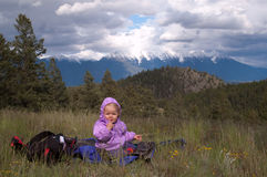 AJ auf eifrigen Hügeln stockfoto