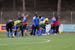 AJ Auxerre training soccer camp Stock Images