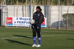 AJ Auxerre training soccer camp Stock Photo