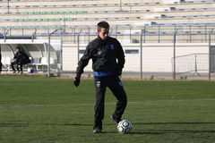 AJ Auxerre training soccer camp Royalty Free Stock Photo
