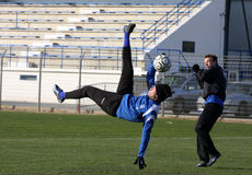 AJ Auxerre training soccer camp Royalty Free Stock Photos