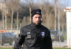 AJ Auxerre training soccer camp Stock Photo