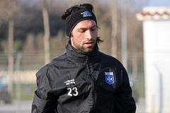 AJ Auxerre training soccer camp Stock Photography