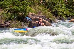 AJ Ras van de Kano van Dusi niet van het Einde van de Stroomversnelling van het Water Birkett Stock Fotografie