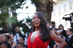 Aja Naomi King  attends the screening Royalty Free Stock Photography