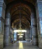 Aya Sofia in Istanbul. Interior of Aya Sofia, detail stock images