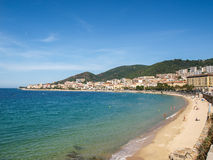 Ajaccio beach Royalty Free Stock Images