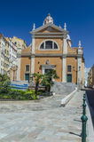 Ajaccio Cathedral in Corsica in summer Royalty Free Stock Photos