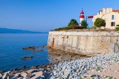 Ajaccio, citadel with lighthouse tower, Corsica. Ajaccio, citadel with white lighthouse tower, Corsica island, France Stock Photos