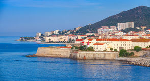 Ajaccio, coastal cityscape, Corsica island, France Royalty Free Stock Photos