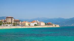 Ajaccio coastal cityscape panorama, Corsica Stock Photos
