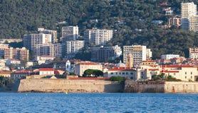 Ajaccio, coastal cityscape, South Corsica, France Stock Photo