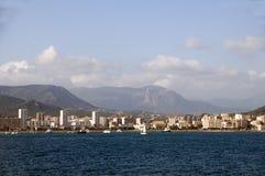 ajaccio Corsica France panoramy nabrzeże Zdjęcie Stock