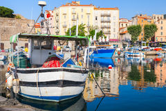 Ajaccio, Corsica island, France. Fishing boat Royalty Free Stock Photography