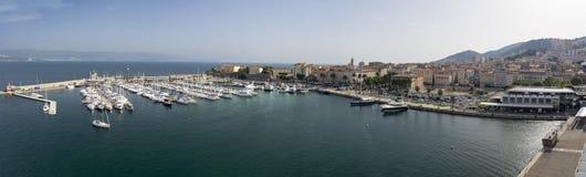 Ajaccio-Hafen Stockfotografie