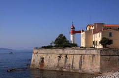 Ajaccio harbor lighthouse Corsica France Royalty Free Stock Images