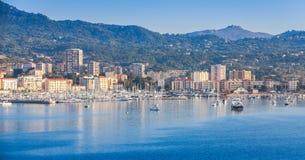 Ajaccio-Küsten-sumer Stadtbild, Korsika lizenzfreie stockbilder