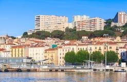 Ajaccio-Küsten-sumer Stadtbild, Korsika-Insel stockfotografie