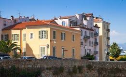 Ajaccio, Korsika-Insel, Frankreich cityscape Stockbilder