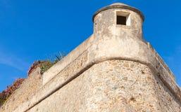 Ajaccio, La Citadelle Het oude fragment van de steenvesting stock foto
