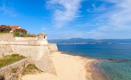 Ajaccio, La Citadelle. Old stone fortress on the coast Royalty Free Stock Image