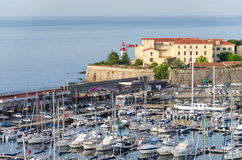 Ajaccio and the lighthouse Stock Images