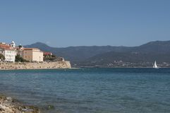 Ajaccio, plaża, Corsica, Corse Du Sud, Południowy Corsica, Francja, Europa Obraz Royalty Free